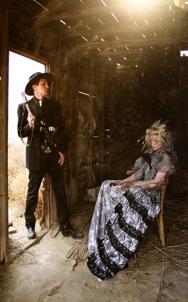 Chopper & Mather - Death's Head production still by Lawrence Drayton