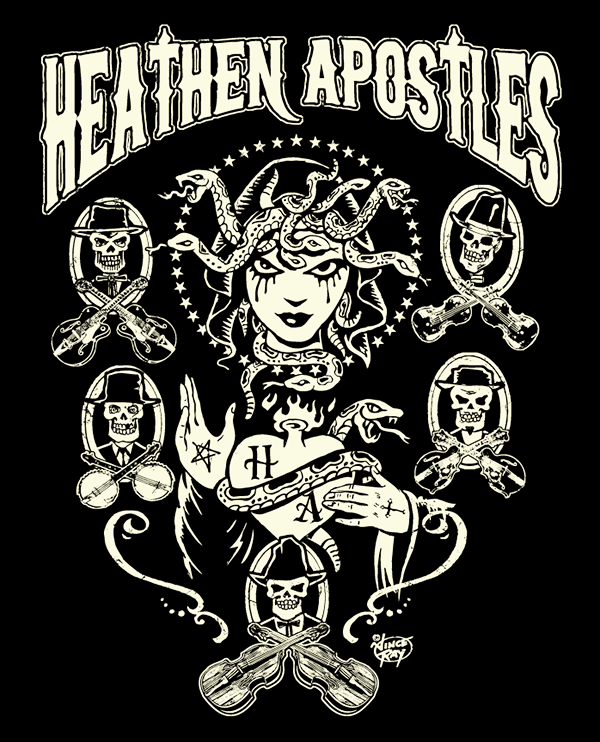 Wg West Coast Font: Vince Ray Heathen Apostles T Shirt Design Is In