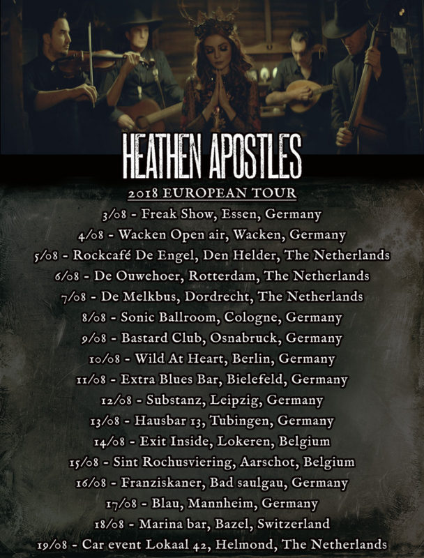Heathen Apostles 2018 European tour dates