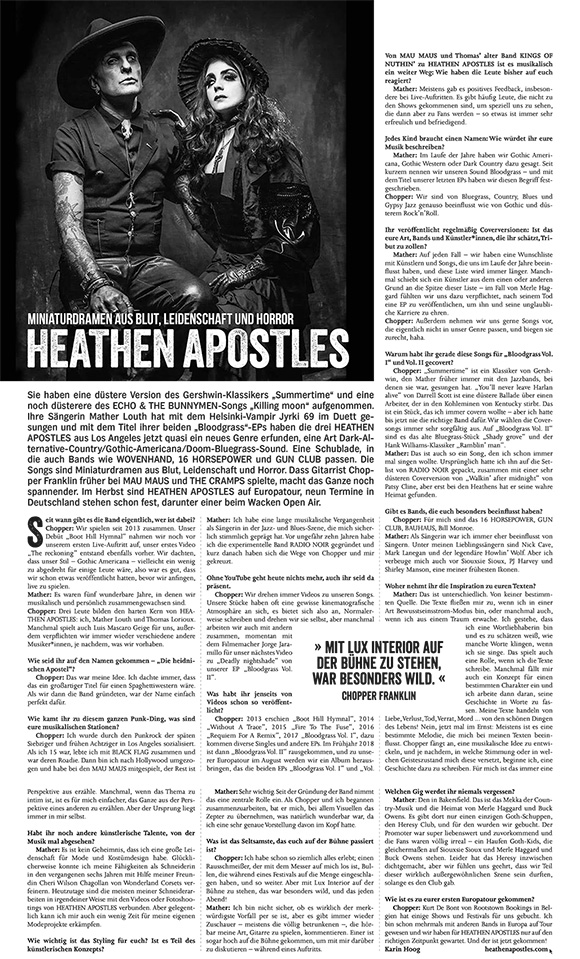 Heathen Apostles Interview